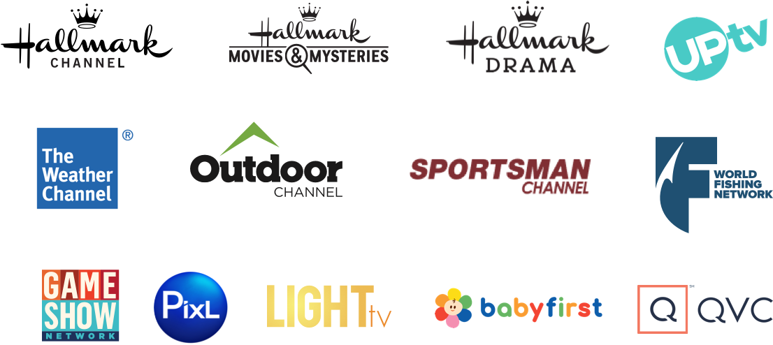 Hallmark Channels, UpTV, Game Show Network, Outdoors Channel Sportsman Channel, and more. TV, Phone, Tablet - Roku and Amazon Fire